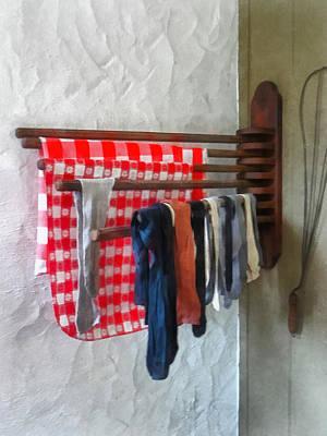 Stockings Hanging To Dry Print by Susan Savad
