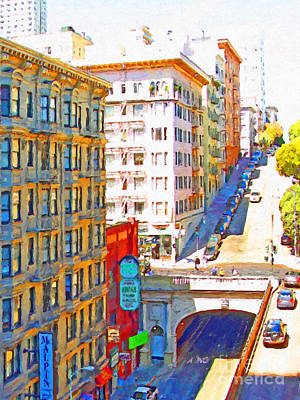 Stockton Street Tunnel In San Francisco . 7d7502 Print by Wingsdomain Art and Photography