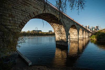 Up201209 Photograph - Stone Arch Bridge Three by Josh Whalen