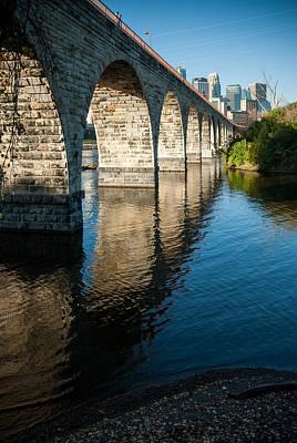 Up201209 Photograph - Stone Arch Bridge Two by Josh Whalen