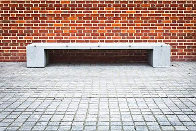 Stone Bench Print by Tom Gowanlock
