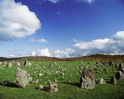Megalith Photograph - Stone Circles On A Landscape, Beaghmore by The Irish Image Collection