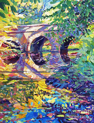 Footbridge Painting - Stone Footbridge by David Lloyd Glover