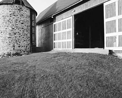 Stone Silo And Bank Barn Original by Jan Faul