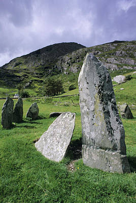 Megalith Photograph - Stonebirrane Stone Circle by David Nunuk