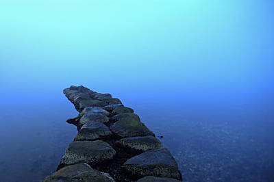 Stones Arranged In Water Print by Sindre Ellingsen