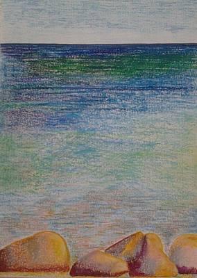 Stones By The Sea Print by Taruna Rettinger