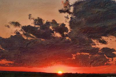 Stony Clouds Print by Debbie Portwood