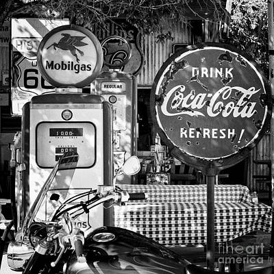 Stop For Gas And Drink Print by Hideaki Sakurai