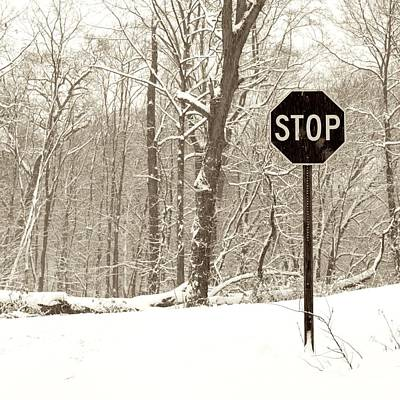 Stop Snowing Print by John Stephens