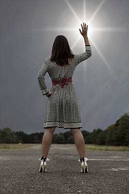 Belted Dress Photograph - Stop The Sun by Joana Kruse