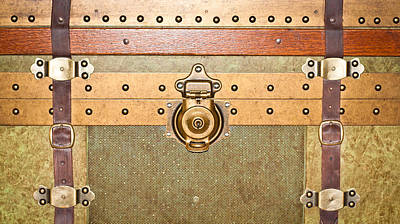 Rivets Photograph - Storage Trunk by Tom Gowanlock