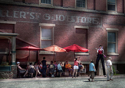 Storefront - Bastile Day In Frenchtown Print by Mike Savad