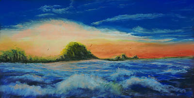 Storm At Low Sun Print by Bob Northway