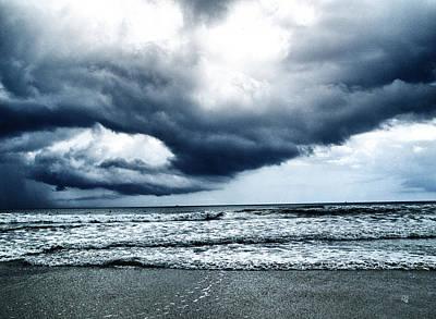 Photograph - Storm At Sea by Barbara Middleton