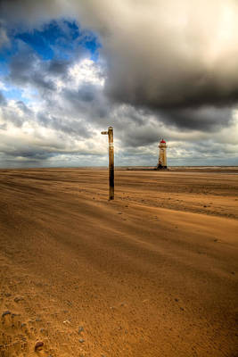 Lighthouse Digital Art - Storm Brewing by Adrian Evans