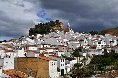 Storm Clouds Over Ardales Spain Print by Mary Machare