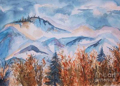 Storm Clouds Painting - Storm Clouds Over The Butte by Ellen Levinson