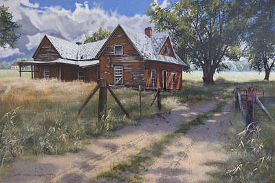 Egg Tempera Painting - Storm Clouds by Peter Muzyka