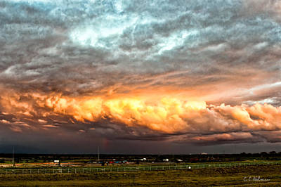 Storm Glow Print by Christopher Holmes