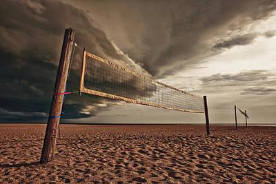 Volley Ball Net Print by Skip Nall