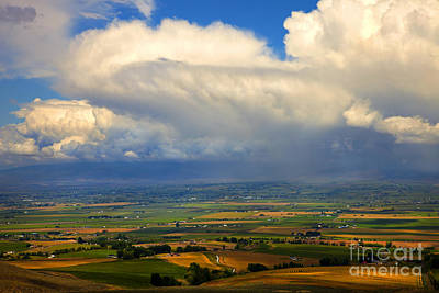 Storm Over The Kittitas Valley Print by Mike  Dawson