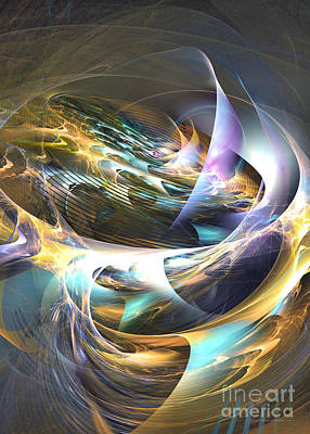 Storm's Ear - Fractal Art Print by Sipo Liimatainen