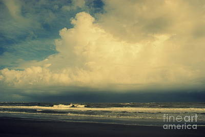 Stormy Clouds At Folly Beach Sc Print by Susanne Van Hulst