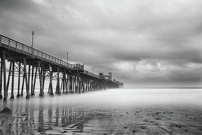 Oceanside Photograph - Stormy Oceanside by Larry Marshall
