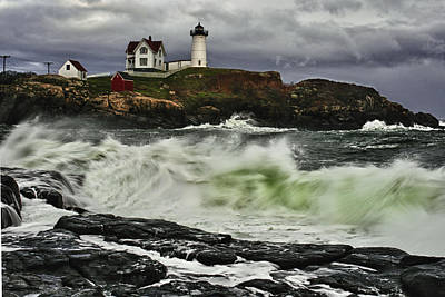 Stormy Tide Print by Rick Berk