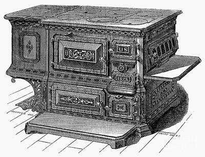 Stove, 1876 Print by Granger