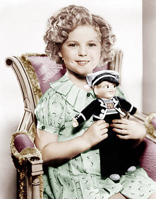 Incol Photograph - Stowaway, Shirley Temple, 1936 by Everett