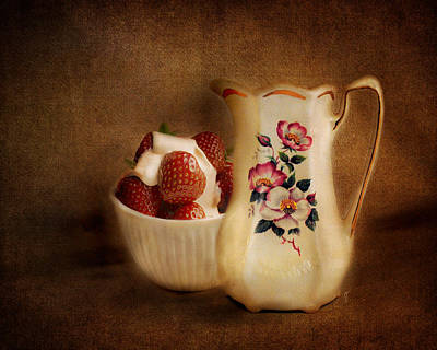 Antique Photograph - Strawberries And Cream by Jai Johnson