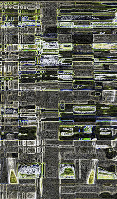 Microchip Digital Art - Street Etchings by James Mancini Heath