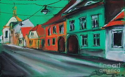 Romania Pastel - Street In Transylvania 2 by Mona Edulesco