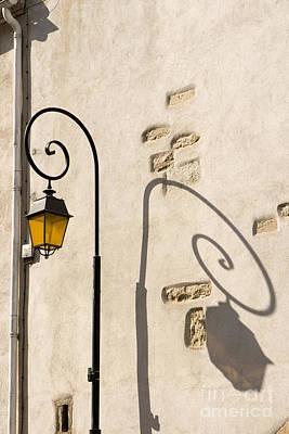 Street Lamp And Shadow Print by Igor Kislev