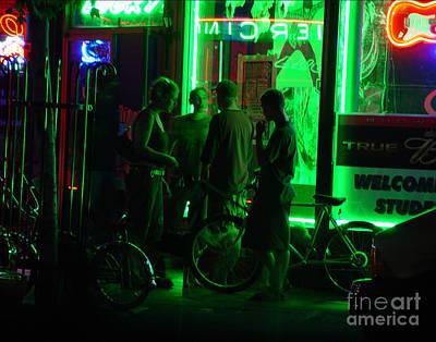 Abstract Digital Light Trails Photograph - Street Life After 2 by Peter Piatt