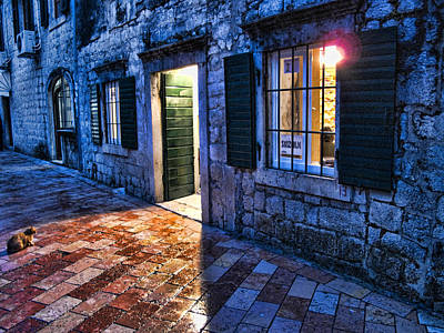 Store Fronts Photograph - Street Scene In Ancient Kotor Montenegro by David Smith