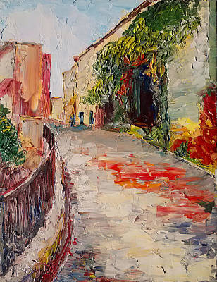Streets Of Old Cannes Print by Raette Meredith