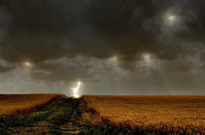 Storm Photograph - Strike by Emily Stauring