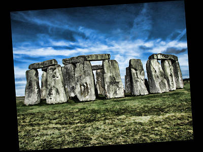 Striking Scene Of Stonehenge Print by Elaine Plesser