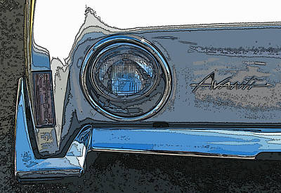 Studebaker Avanti Headlight Print by Samuel Sheats