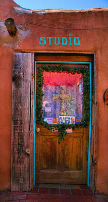 Framed Old Town Door Photograph - Studio Door by Steven Ainsworth