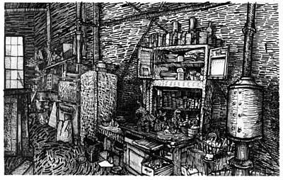 Studio Kitchen Lic New York Print by Al Goldfarb
