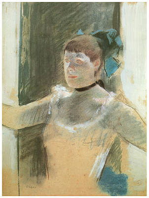 Ballet Painting - Study For Bust Of A Dancer by Edgar Degas