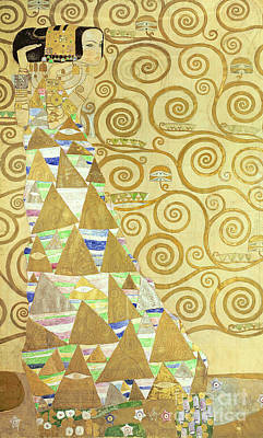 Gold Leaf Painting - Study For Expectation by Gustav Klimt