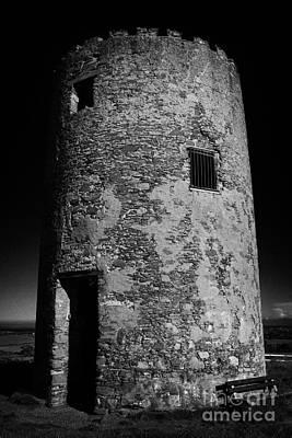 Stump Remains Of Portaferry Windmill On Windmill Hill Portaferry Ards Peninsula County Down  Print by Joe Fox