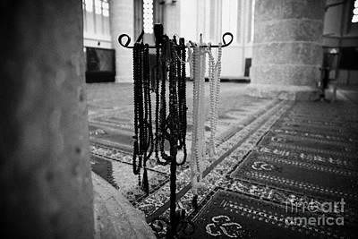 Subha Misbaha Tasbih Prayer Beads Hanging In The Lala Mustafa Pasha Mosque  Print by Joe Fox