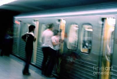 Urban Subway Painting - Subterranean Hustle  by Michael Swanson