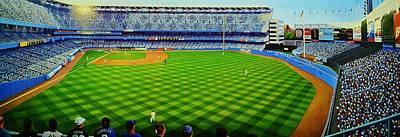 Yankee Stadium Painting - Subway Series by T Kolendera